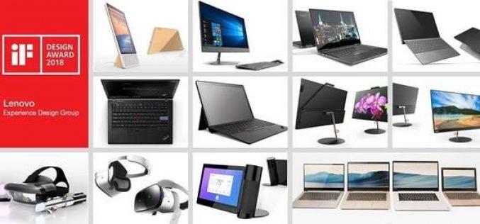 """Lenovo vince 14 premi """"iF design award 2018"""""""