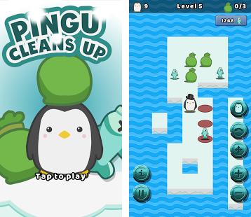 Pingu Cleans Up