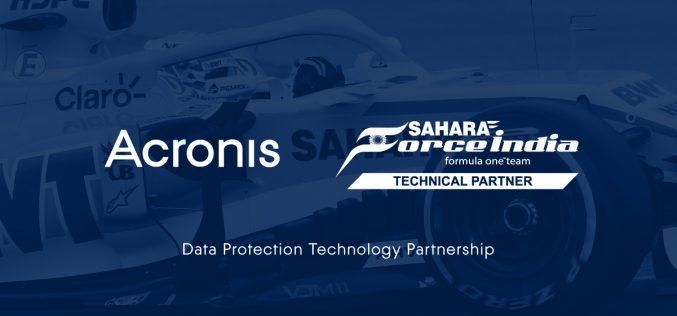 Acronis e Sahara Force India annunciano una partnership tecnologica ufficiale per la protezione dei dati