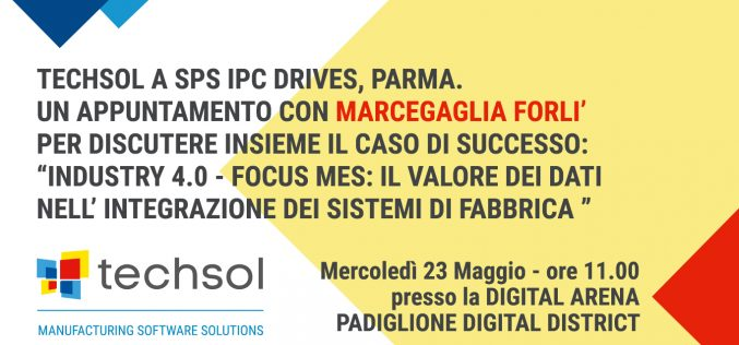 Techsol partecipa a SPS IPC Drives a Parma