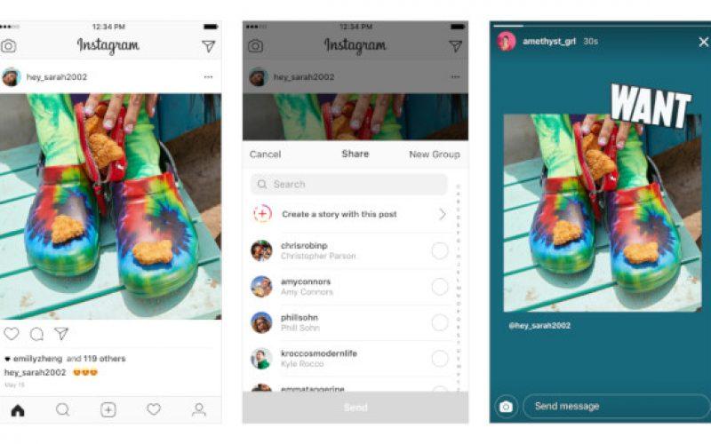 Instagram, ora i post si possono condividere nelle Storie