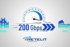 L'Italia viaggia a 200 Gbps con Retelit. Roma e Milano mai così connesse
