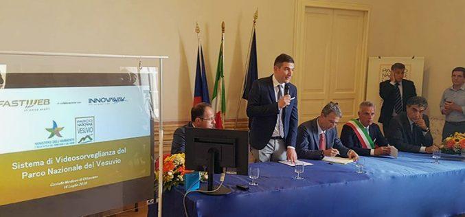"""Inaugurato il """"Sistema di Videosorveglianza Territoriale e servizi connessi"""" per l'Ente Parco Nazionale del Vesuvio realizzato da Fastweb e Innovaway"""