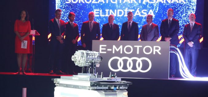 Audi Ungheria, al via la produzione in serie di motori elettrici