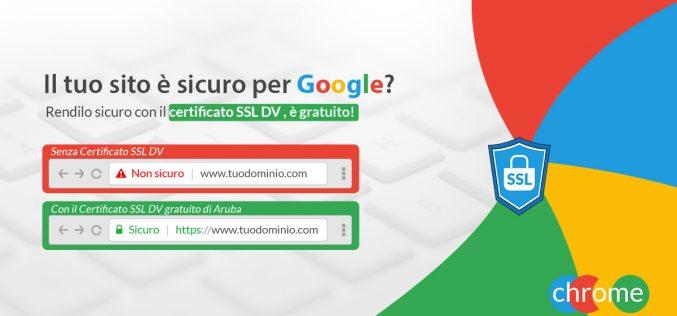 Aruba offre gratuitamente il certificato SSL per navigare sicuri