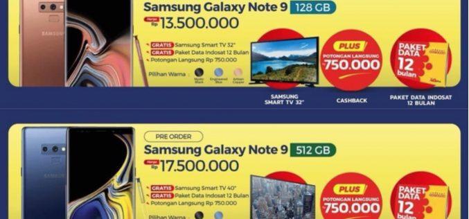Galaxy Note9, i prezzi e i colori