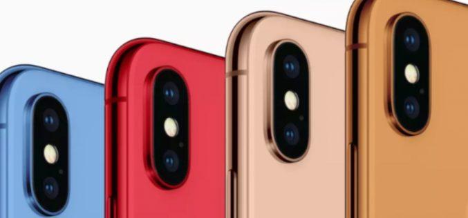 Tutti i colori degli iPhone 2018