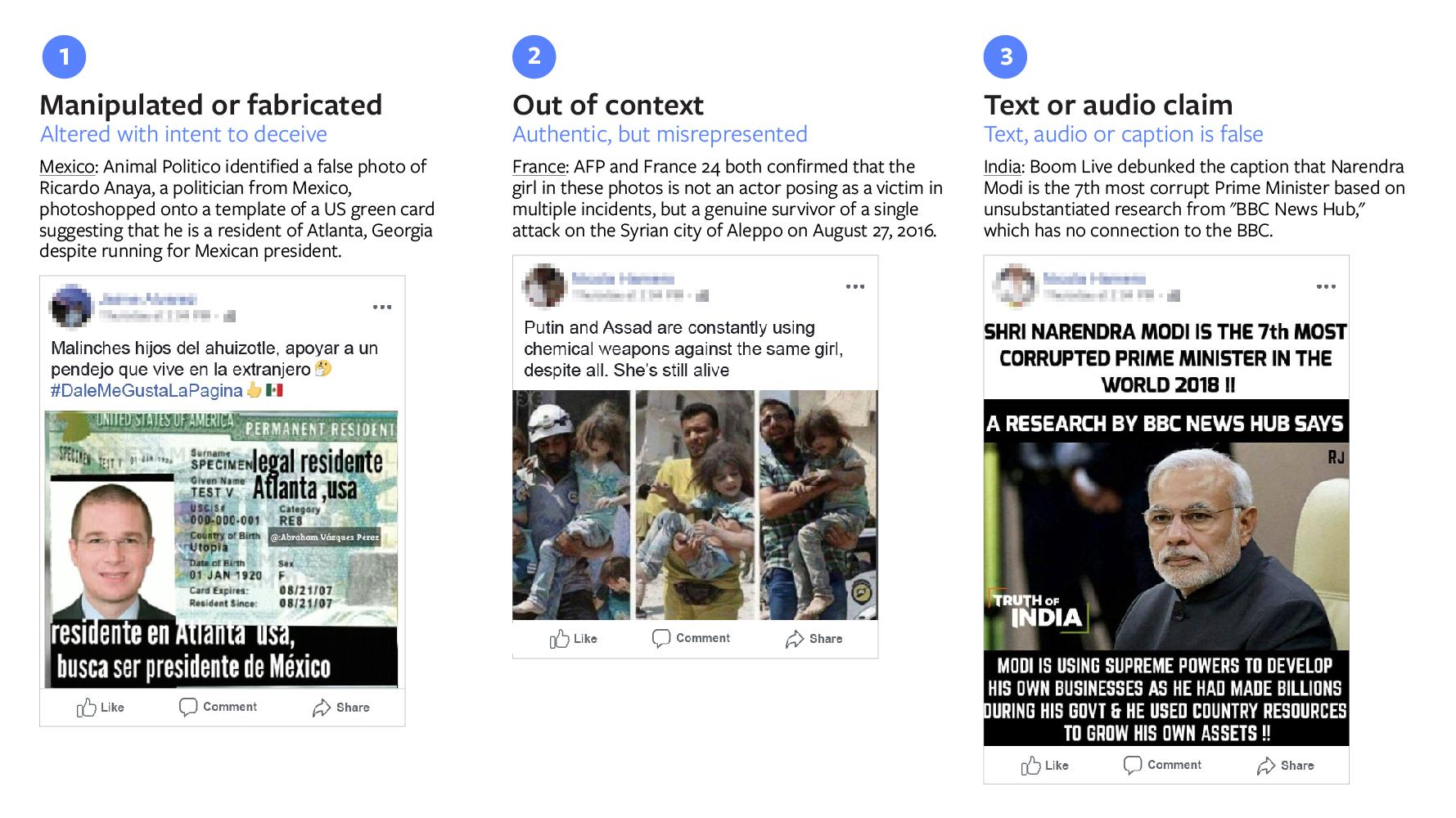 nuovi strumenti di facebook contro le fake news