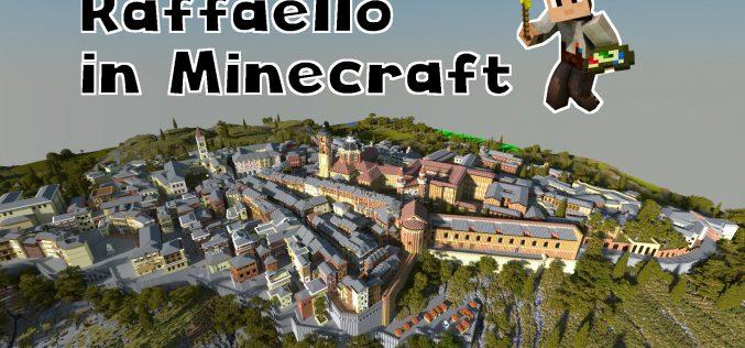 Raffaello in Minecraft, studiare la vita del grande artista attraverso un videogioco