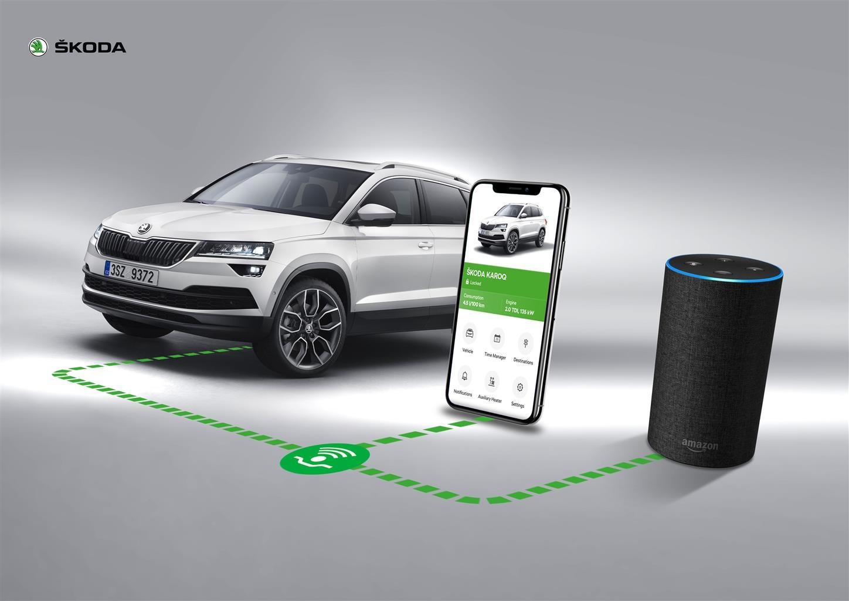 Amazon Alexa sale sulle ŠKODA