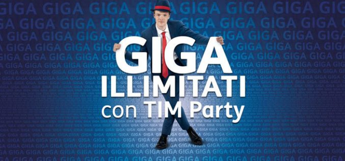 Con TIM Party in regalo giga illimitati in 4.5G