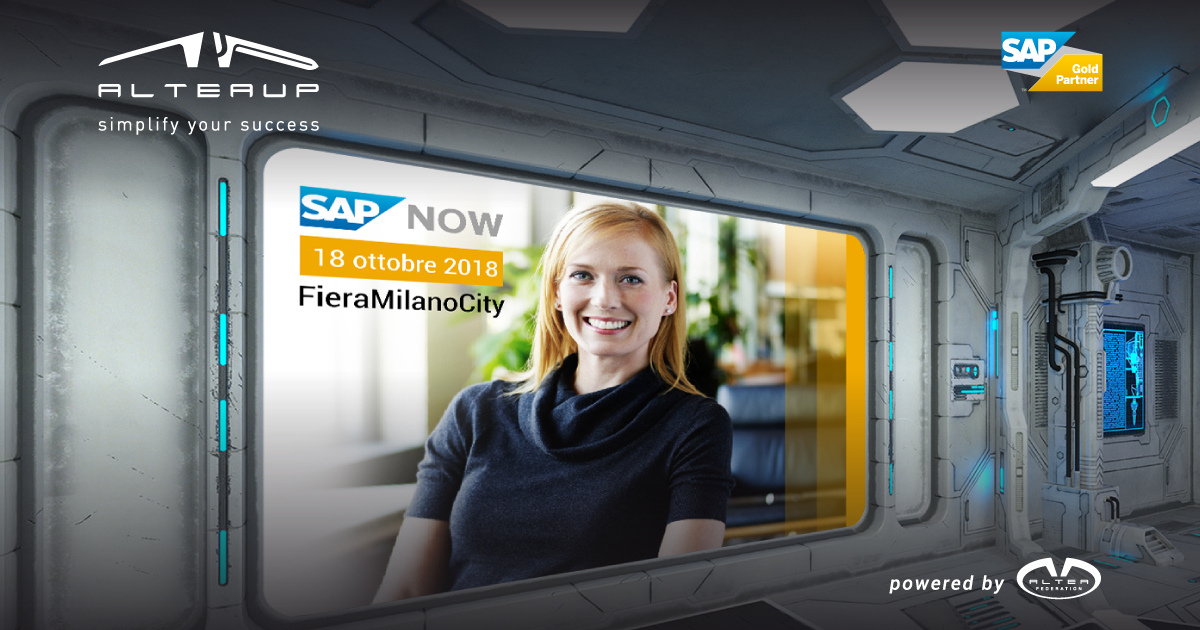 ALTEA UP presente al SAP NOW