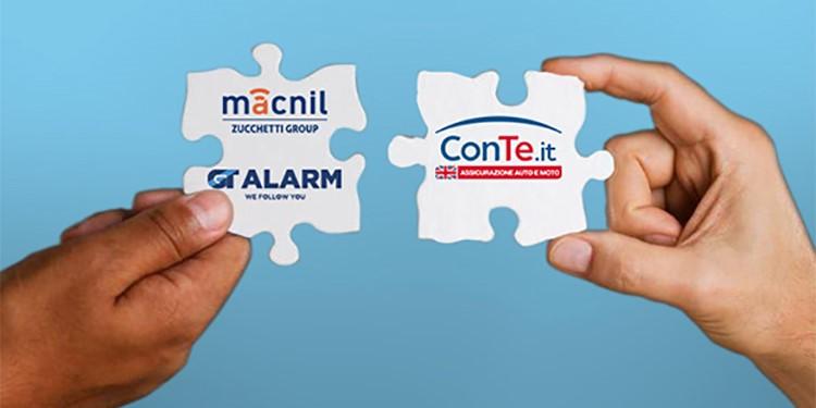 Accordo tra Macnil GT Alarm - Gruppo Zucchetti e ConTe.it
