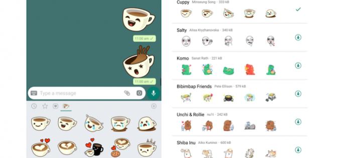 WhatApp finalmente introduce gli stickers