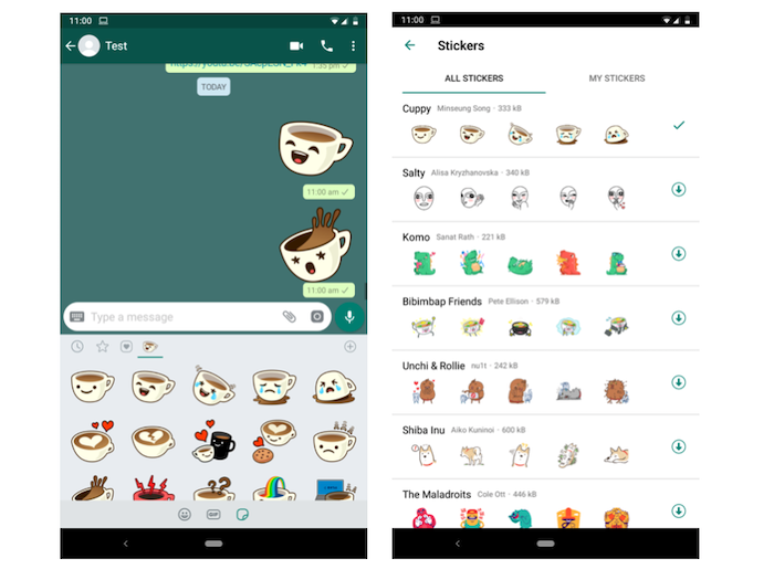 WhatsApp introduce gli stickers