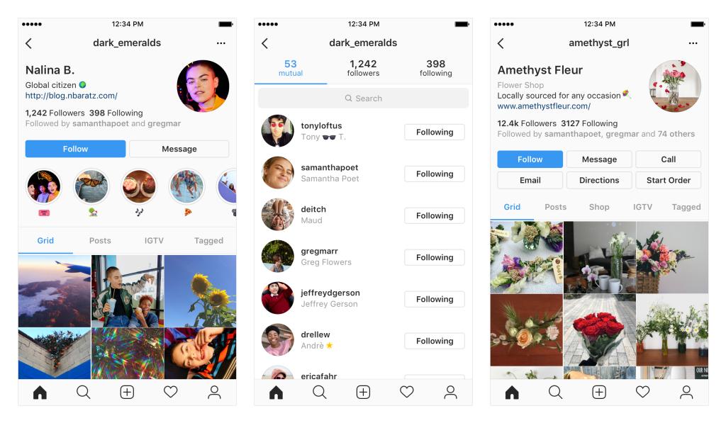 Instagram nuovi profili