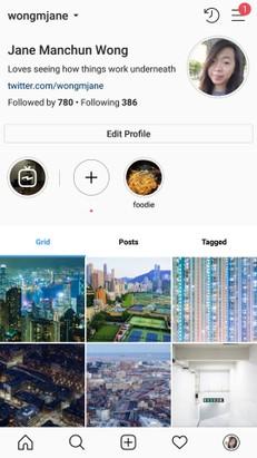 Instagram nuova pagina profilo