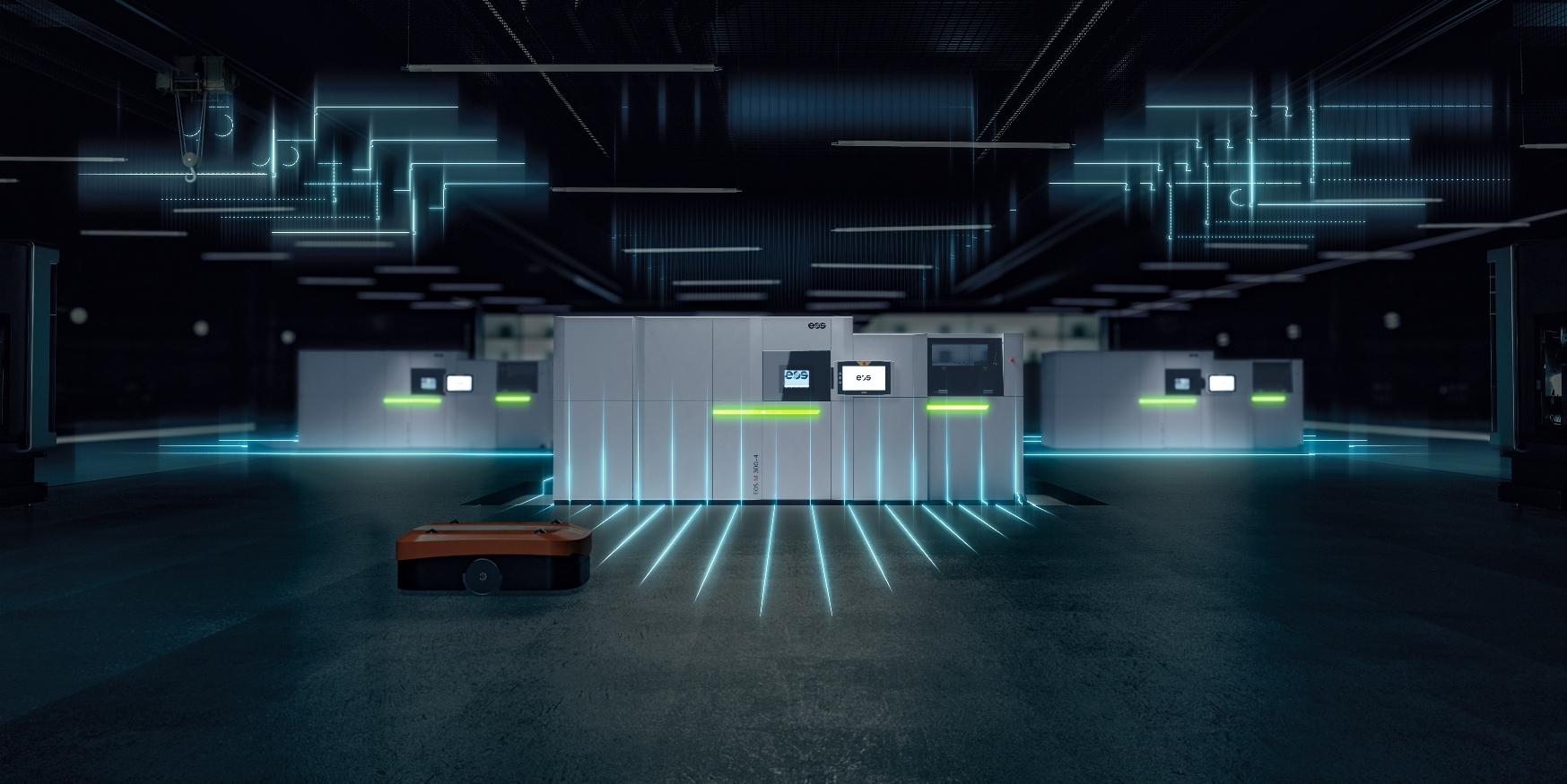 EOS presenta una nuova tecnologia per i polimeri e una cella di produzione per la stampa 3D di materiali metallici