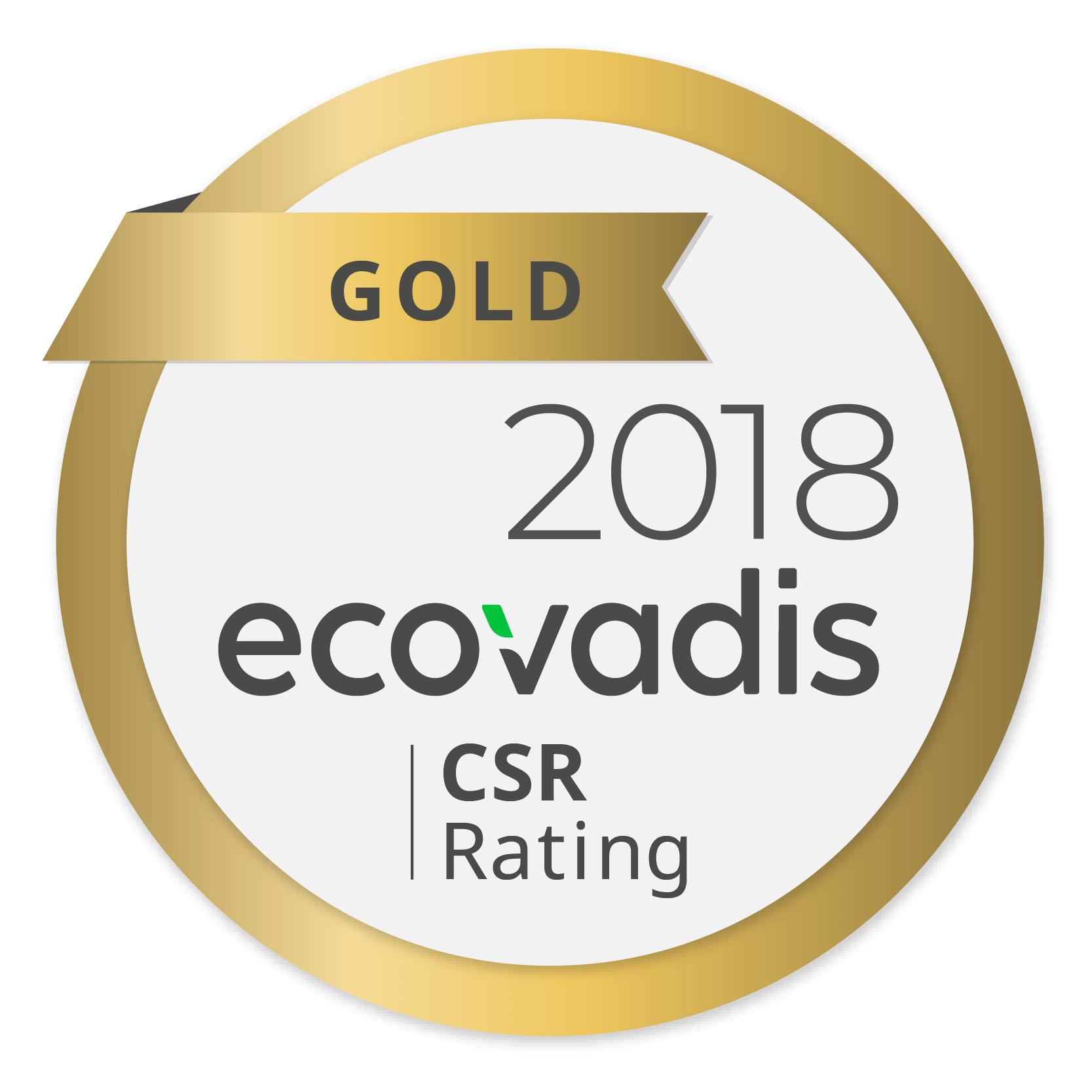 """Sostenibilità: Ricoh riceve il riconoscimento """"Gold"""" da parte di EcoVadis"""