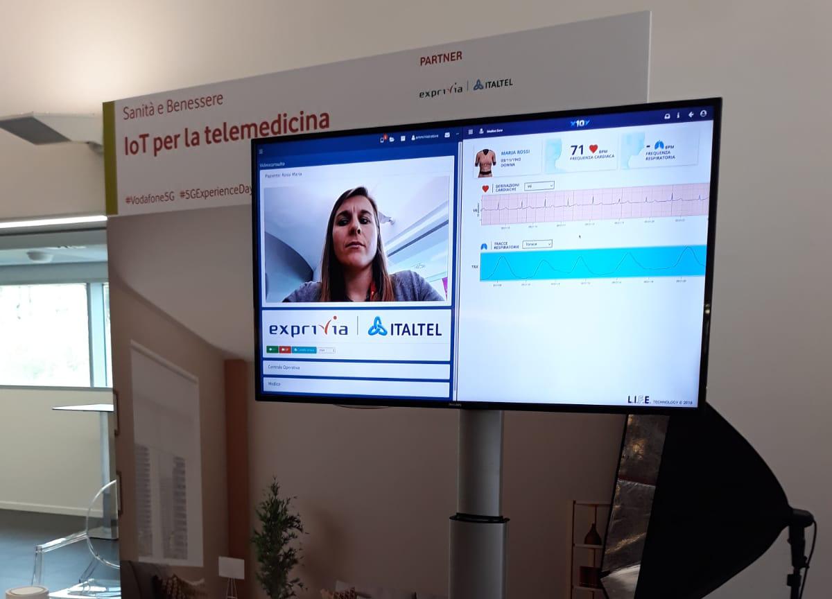 Exprivia|Italtel: presentata la soluzione IoT per la telemedicina al Vodafone 5G Experience Day