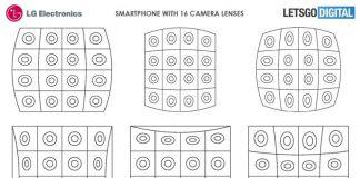 Nel portafoglio di LG uno smartphone con 16 fotocamere
