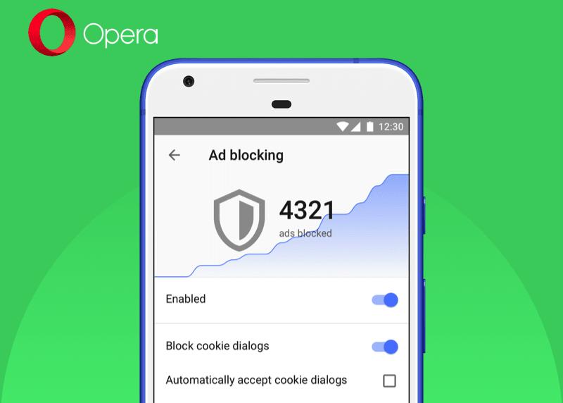 Opera per Android blocca (finalmente) le notifiche sui cookie
