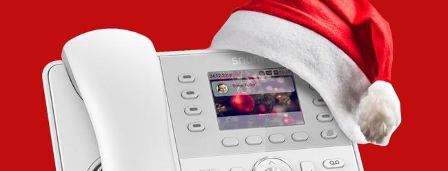 L'atmosfera natalizia? Te la regalano i telefoni IP di Snom