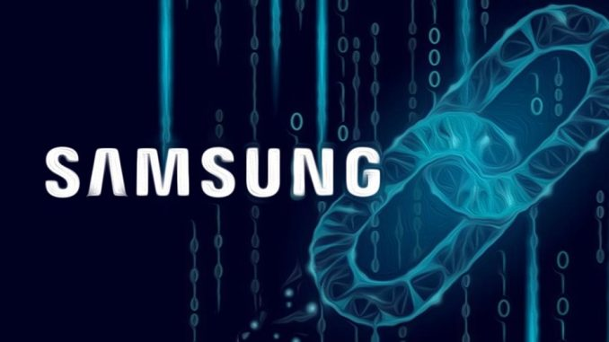 Samsung punta sulla blockchain
