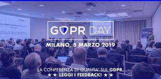 Annunciata la nuova tappa del GDPR Day: 5 marzo 2019 a Milano