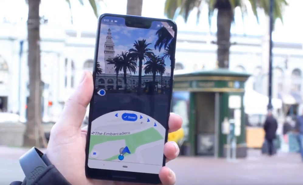 Google Maps modalità realtà aumentata
