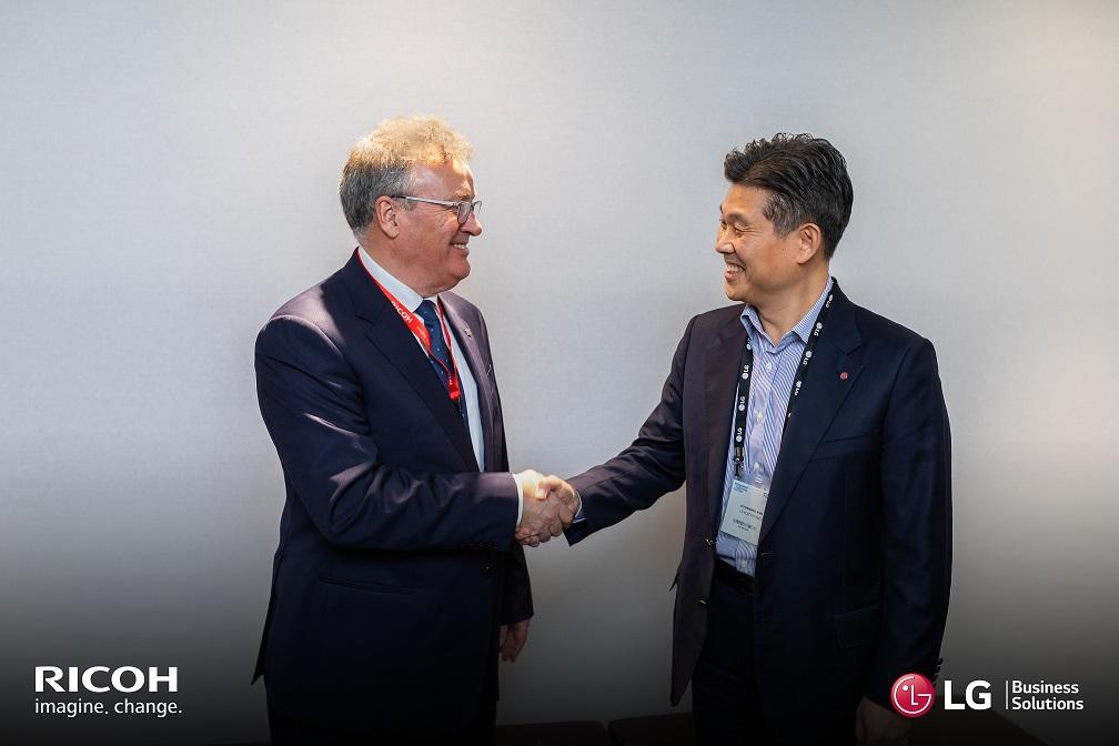 Partnership a livello europeo tra Ricoh e LG