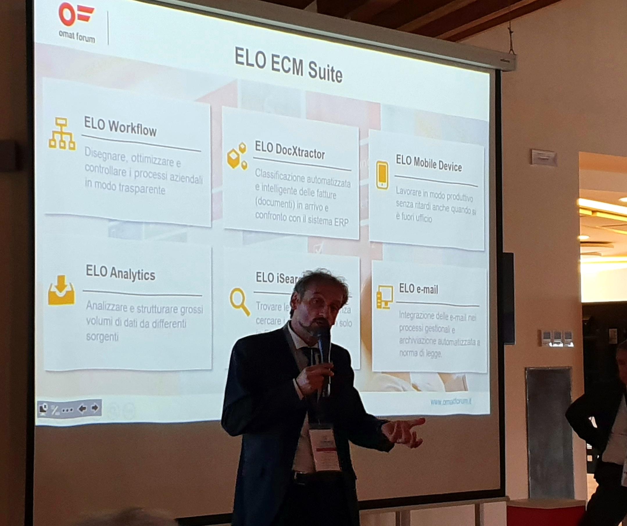 La gestione documentale di Elo all'Omat Forum Milano 2019