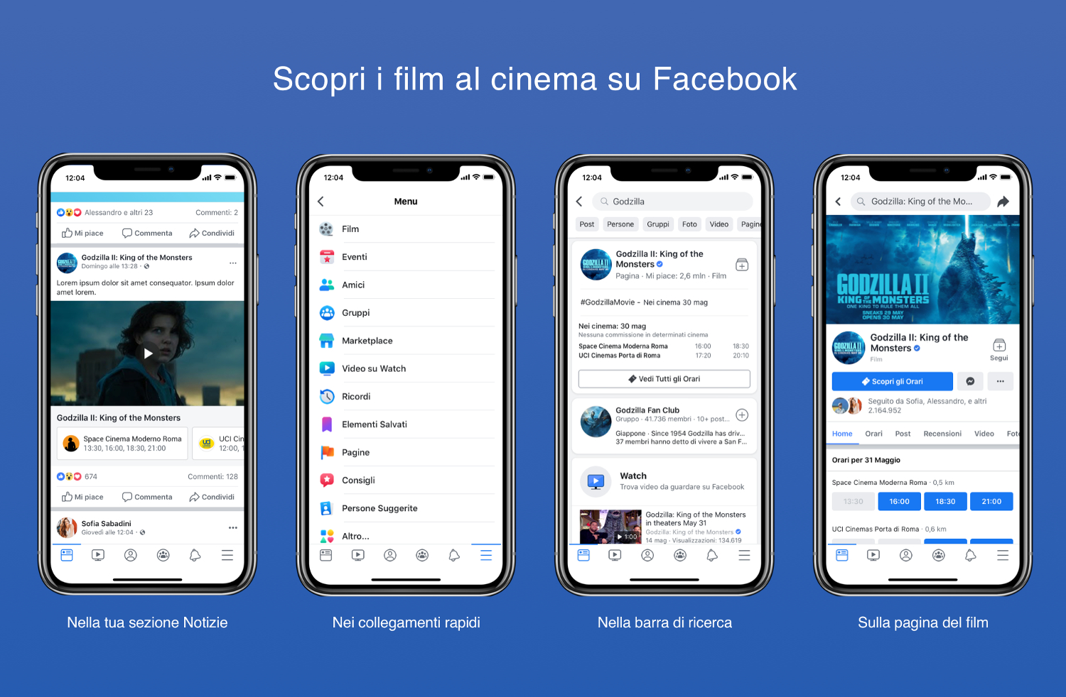 Facebook Film arriva in Italia