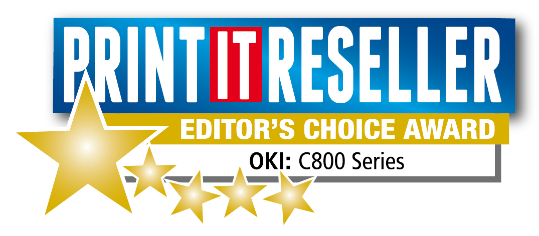 La Serie C800 di OKI Europe premiata dalla rivista Print IT Reseller