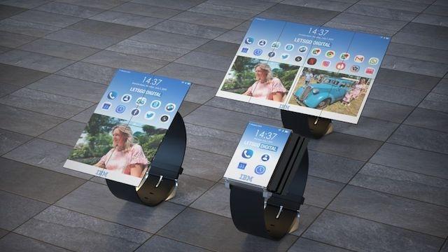 IBM brevetta un orologio con un display pieghevole