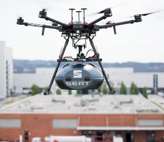 SEAT consegna i ricambi via drone