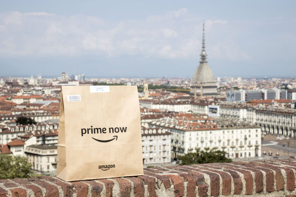 Amazon Prime Now arriva a Torino con Pam Panorama