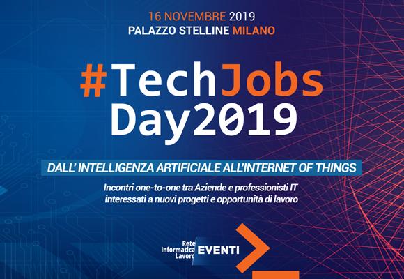 A novembre a Milano arriva il #TechJobsDay2019