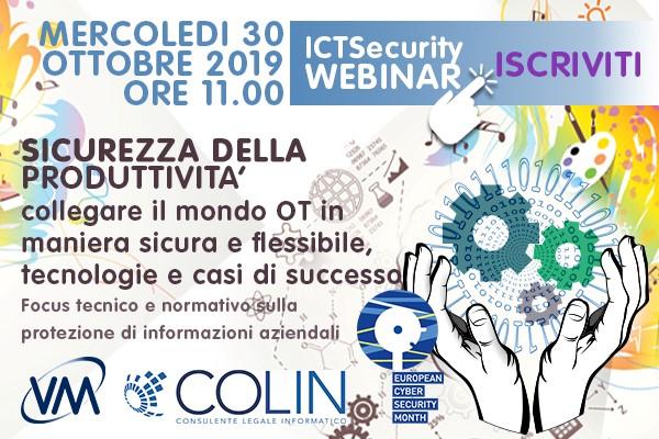 Sicurezza della produttività: VM Sistemi organizza un webinar il 30 ottobre