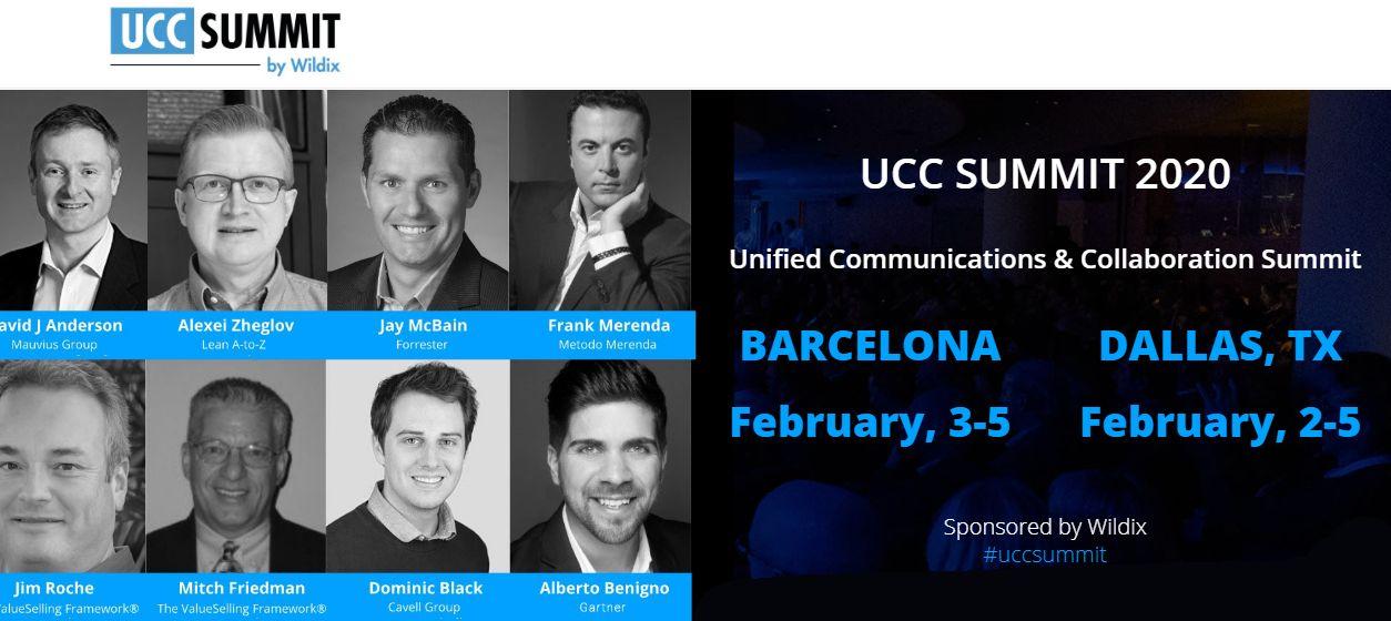 Wildix vola a Barcellona e Dallas per l'Unified Communications Summit 2020
