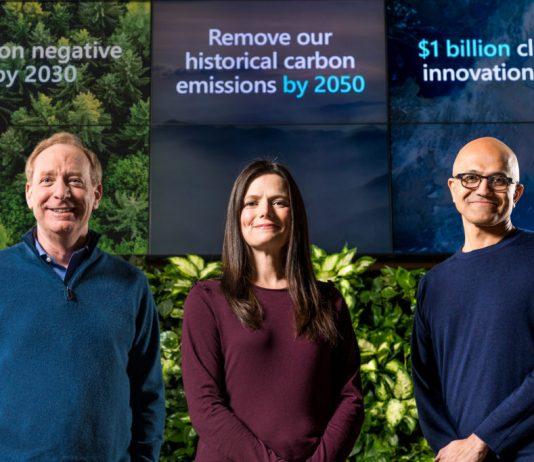 Microsoft punta a diventare carbon negative entro il 2030