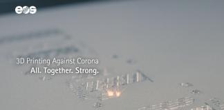 EOS lancia #3DAgainstCorona, piattaforma e movimento per la lotta al Covid-19