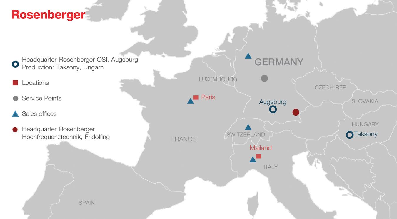 Rosenberger OSI espande la vendita nei mercati di Est Europa e Russia