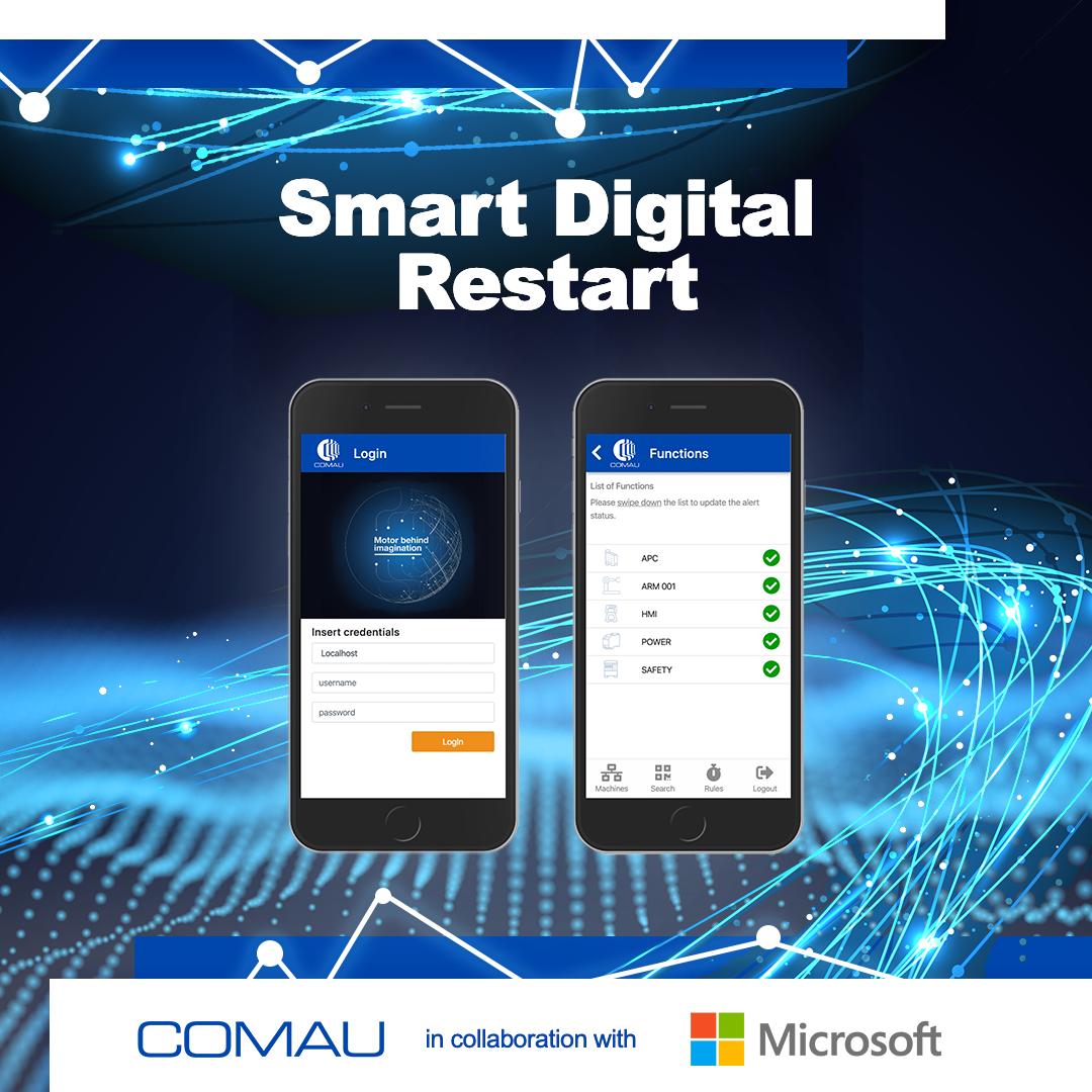 "Comau lancia l'iniziativa ""Smart Digital Restart"" e"