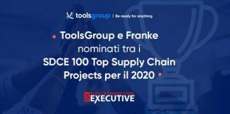 ToolsGroup si aggiudica un premio SDCE 100 Top Supply Chain Projects per il 2020