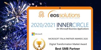 EOS Solutions è il miglior partner Microsoft italiano per le PMI