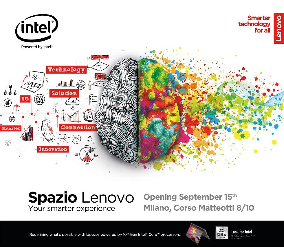 Lenovo annuncia l'opening event di Spazio Lenovo con una campagna out-of-home a Milano