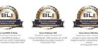 Canon riceve tre premi da Keypoint Intelligence