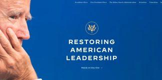 La transizione presidenziale di Joe Biden inizia con BuildBackBetter.gov