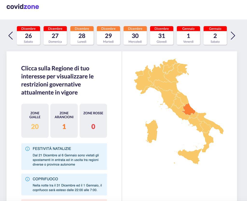CovidZone.info, la web app per tenere traccia dei DPCM e delle restrizioni